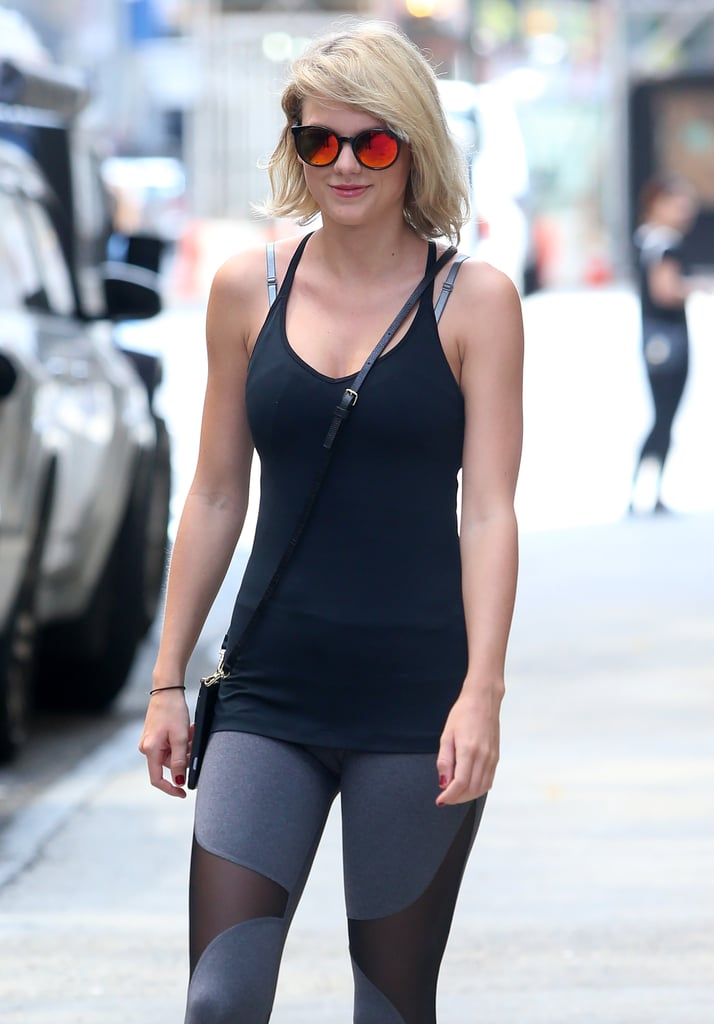 Taylor Swift Was Spotted Looking Smiley As She Geared Up For A Workout In Nyc On