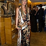 Anna Dello Russo didn't skimp on the glamour at Louis Vuitton's store opening.