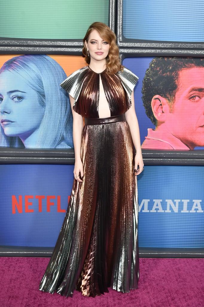 Emma Stone Givenchy Dress Maniac Premiere 2018