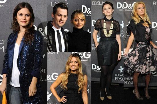 Nicole, Paris, Some Maddens, Conrad, & Bilson Celebrate D&G