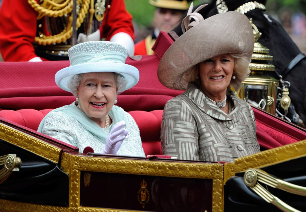 The queen rode with Camilla, Duchess of Cornwall.