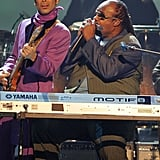 Pictured: Prince and Stevie Wonder