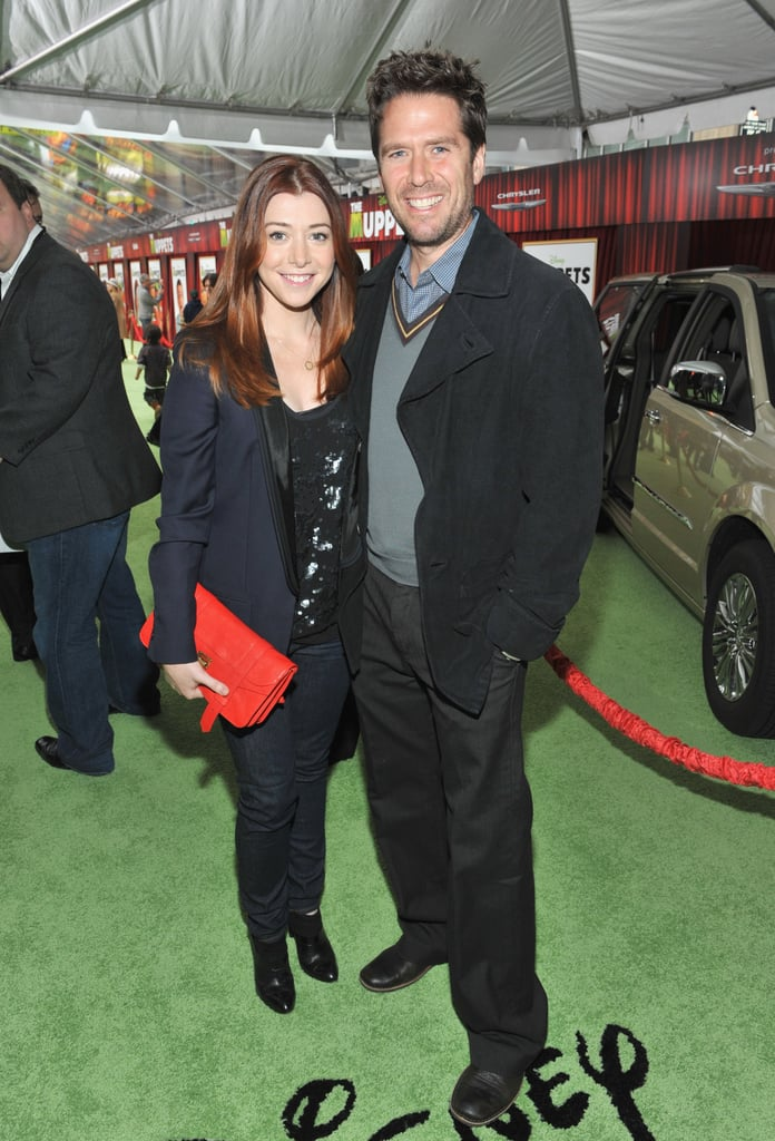 Alyson Hannigan came out to support her How I Met Your Mother costars Jason Segel and Neil Patrick Harris.