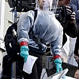 Jude Law Wears a Crazy Costume For Contagion