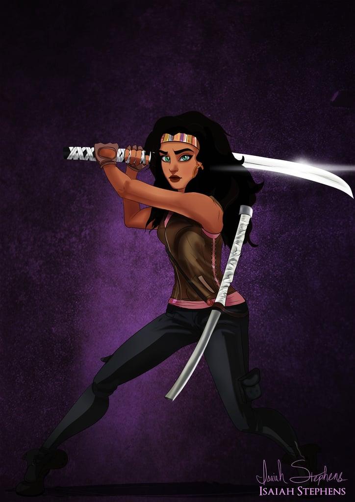 Esmeralda as Walking Dead's Michonne