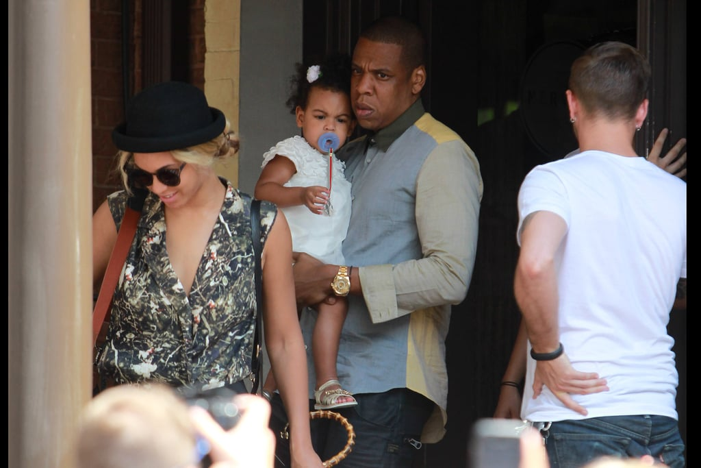 Beyonce and Jay Z took their adorable daughter Blue Ivy out and about in Toronto on July 17.