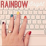 Rainbow nails for LGBT Pride month.