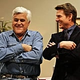 Tom Cruise and Jay Leno got all buddy-buddy behind the scenes. Source: Instagram user tonightshow