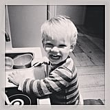 Luca Comrie looked like the happiest chef we've ever seen! Source: Instagram user hilaryduff