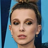 Millie Bobby Brown's Gilded Smoky Eyes