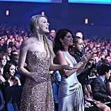 Taylor Swift and Selena Gomez danced during performances at the American Music Awards.