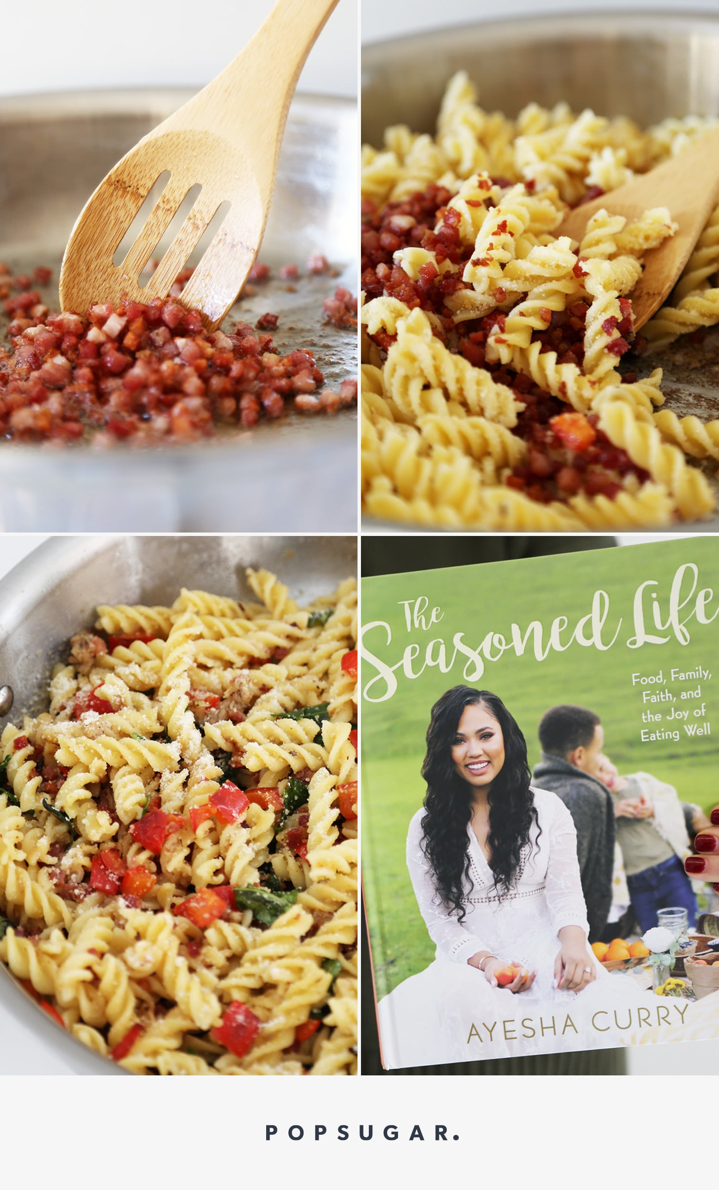 Ayesha curry 39 s five ingredient pasta recipe popsugar food for Cuisine 5 ingredients