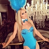 Paris Hilton debuted her sexy Playboy Bunny getup in 2014.
