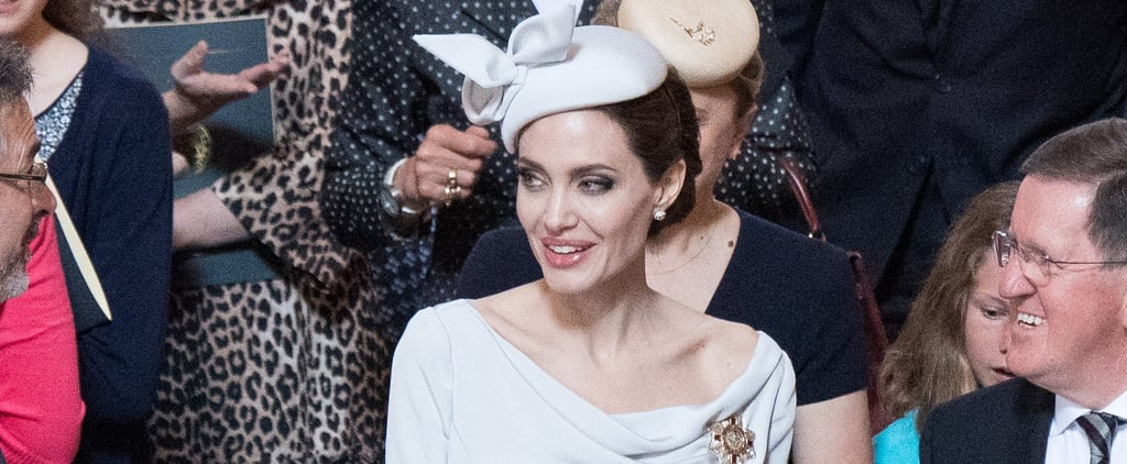 Angelina Jolie's Ralph & Russo Gray Dress