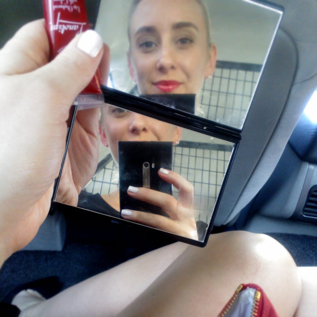 Me + late + cab + lipgloss. Daily occurrence.