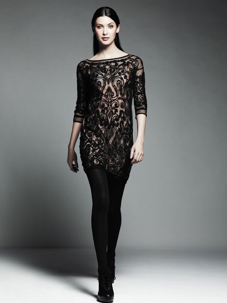 Embroidered Mesh Dress ($120)