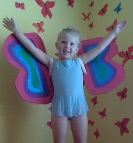 Carboard Box Butterfly Costume