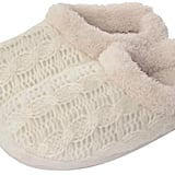 Totes Knitted Mule Slippers With Supersoft Lining (£18)