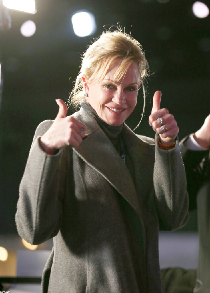 Melanie Griffith was in Chicago to celebrate.