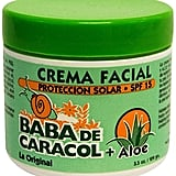 If your abuela couldn't find Baba de Caracol Crema Facial ($15) in stores here, she'd have it sent from abroad, no doubt. Lucky for you, you can now get it in department stores stateside.