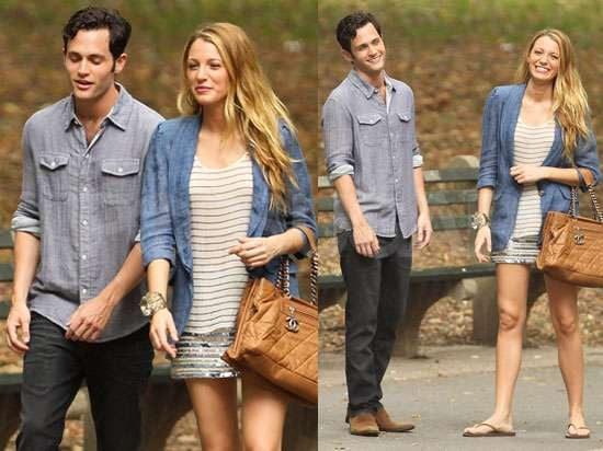 Pictures of Blake Lively and Penn Badgley