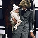 Diana Arriving in Scotland With Harry, 1981