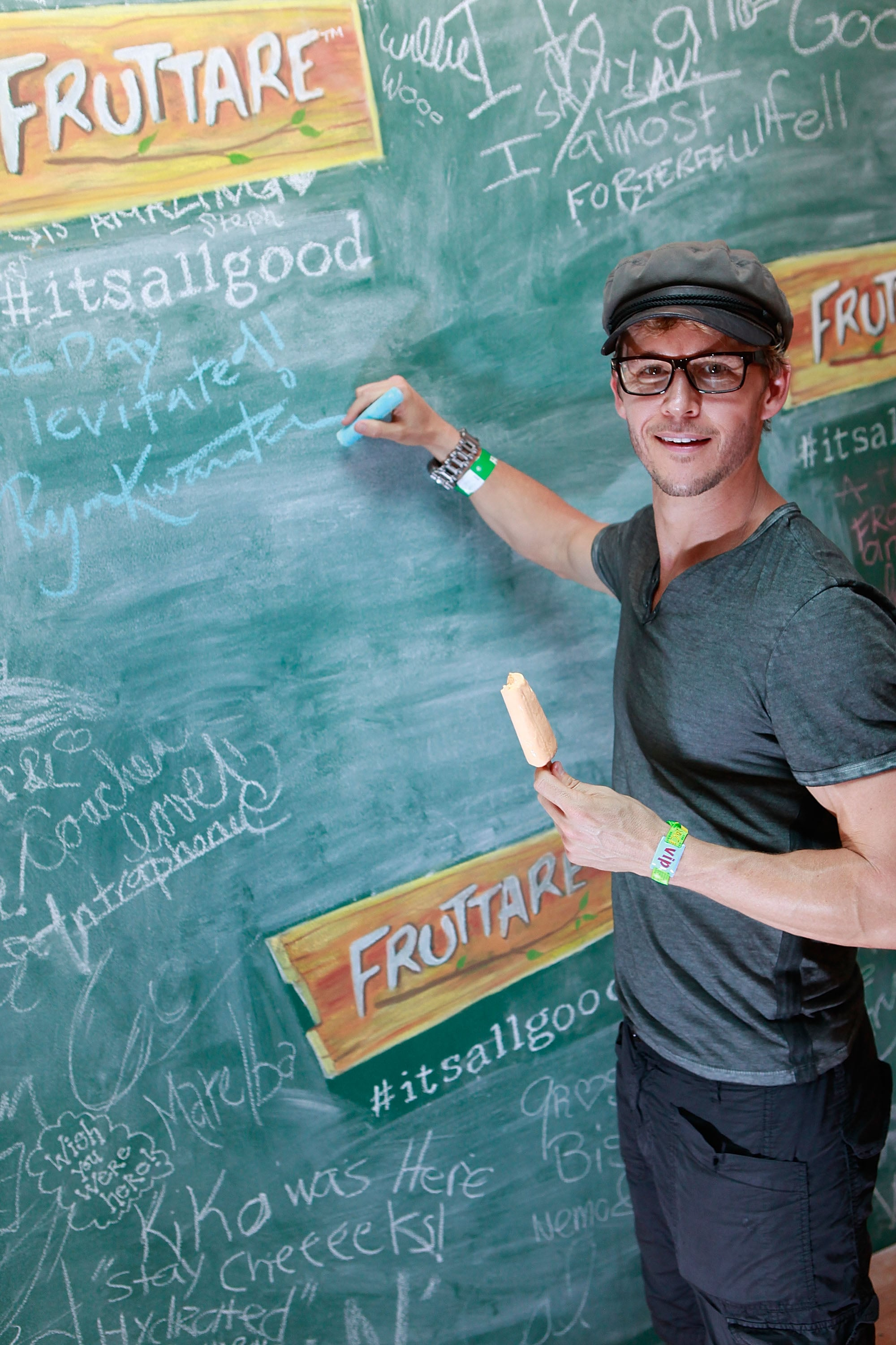 Ryan Kwanten stopped by the Fruttare Hangout at Coachella in 2013.
