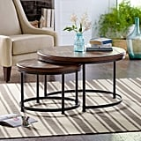 Stone & Beam Wood and Metal Round Nesting Side End Tables