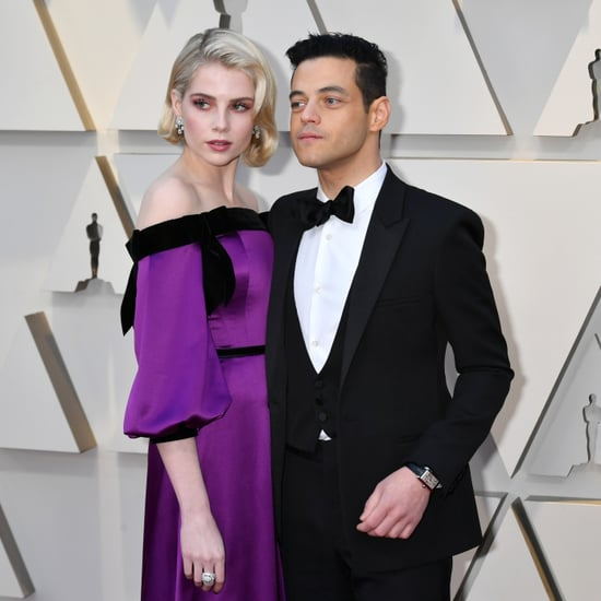 Rami Malek and Lucy Boynton at the Oscars 2019
