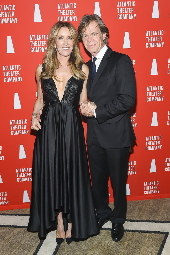 If there's one couple we never get tired of seeing, it's Felicity Huffman and William H. Macy. On Monday, the pair was as cute as can be when they attended the Atlantic Theater Company's Directors' Choice Gala in NYC. In addition to giving off major prom king and queen vibes in matching ensembles, Felicity and William showed off their nearly two-decades-long romance as they held hands on the red carpet. Their outing is just the latest in a series of sweet moments between the duo, who continue to be our dream Hollywood mom and dad.