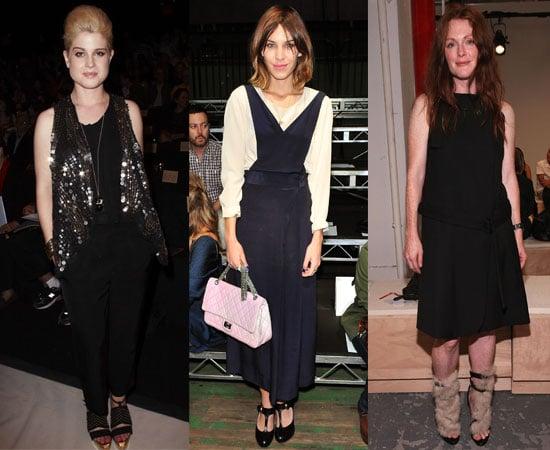 Celebs at 2011 New York Fashion Week Spring including Alexa Chung, Kelly Osbourne
