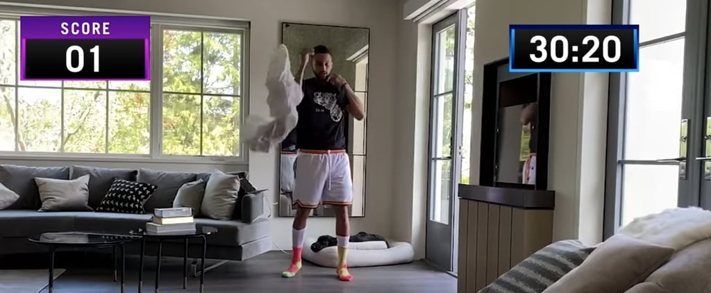 Steph Curry Does the Shirt Off Shoot Out Challenge | Video
