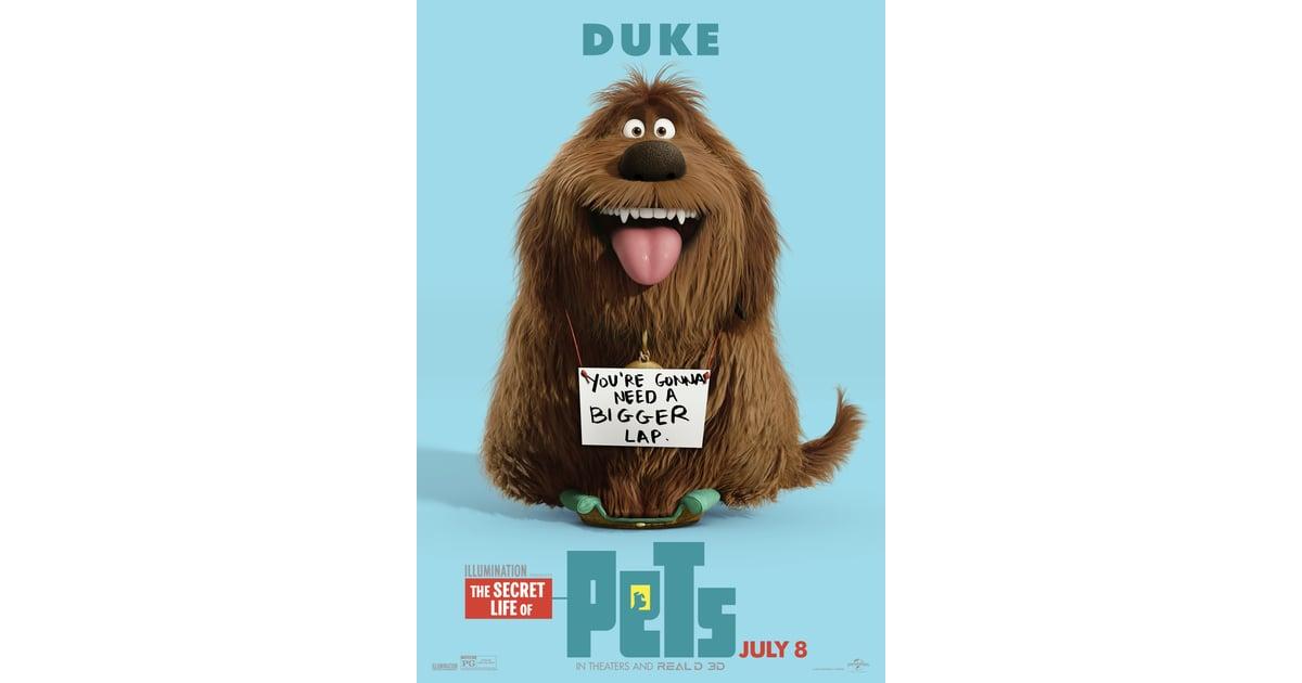 The Secret Life Of Pets Character Posters Popsugar Pets