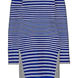"""""""I love the way these satin and twill, blue and gray stripes hug the body. I'll be wearing this dress with tights while it's still chilly, and then with cutout Balenciaga boots when the temperatures heat up!"""" — Allison McNamara, host and producer, FabSugarTV  Alexander Wang dress ($650)"""