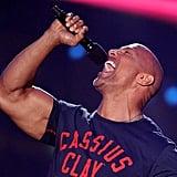 Dwayne Johnson in Tight Shirts Photos