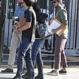Zac Efron carried a script around in LA.