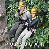 Kate Middleton and Prince William showed off their sporty side in a Borneo rain forest in September 2012.