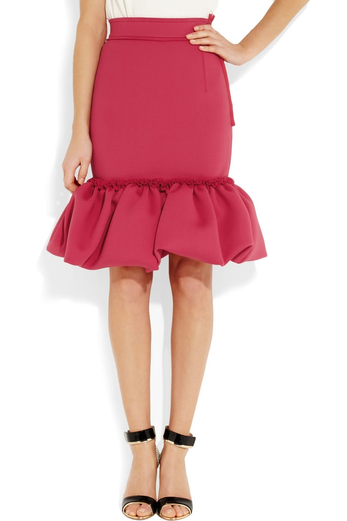 If you're looking for a single piece to add flair to your wardrobe, let it be this standout scuba-jersey Lanvin skirt ($1,028, originally $2,057).