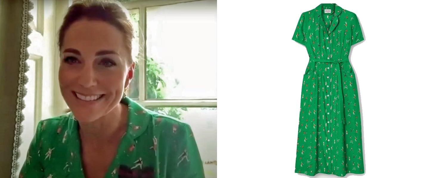 The Duchess of Cambridge's Green HVN Tennis-Print Dress