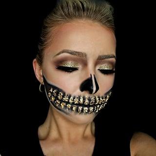 Glitter Halloween Makeup