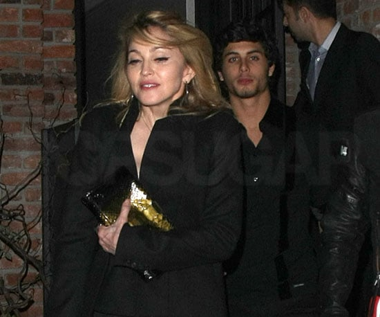 Slide Photo of Madonna and Jesus Luz Leaving NYC Club