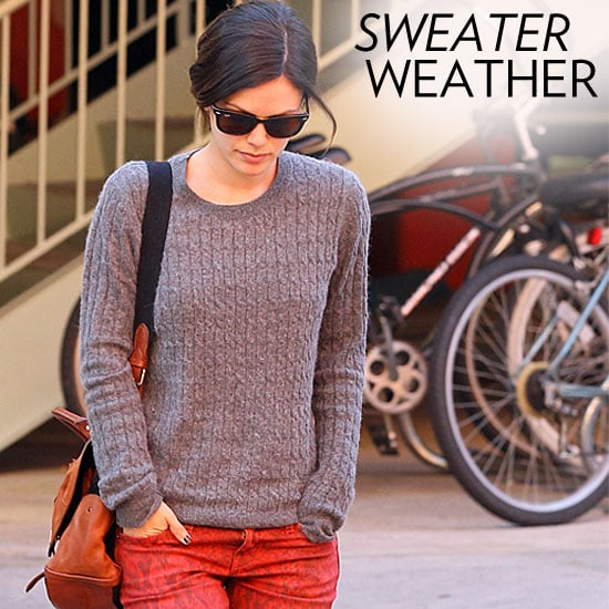 Celebrities Wearing Sweaters Winter 2011