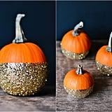 Glitter-Dipped Pumpkins
