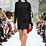 Kaia Showed Off an Elegant LBD on the Valentino Runway
