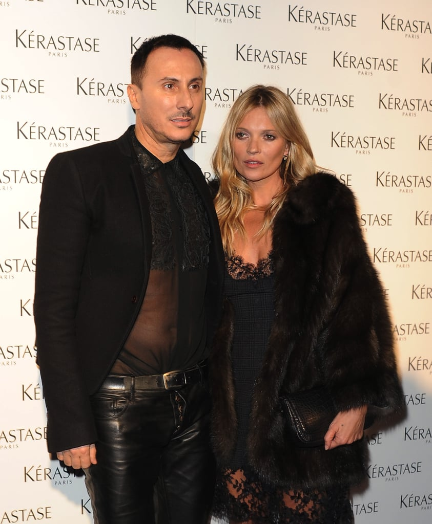 Kate Moss and Luigi Murenu wore all-black ensembles for the occasion.