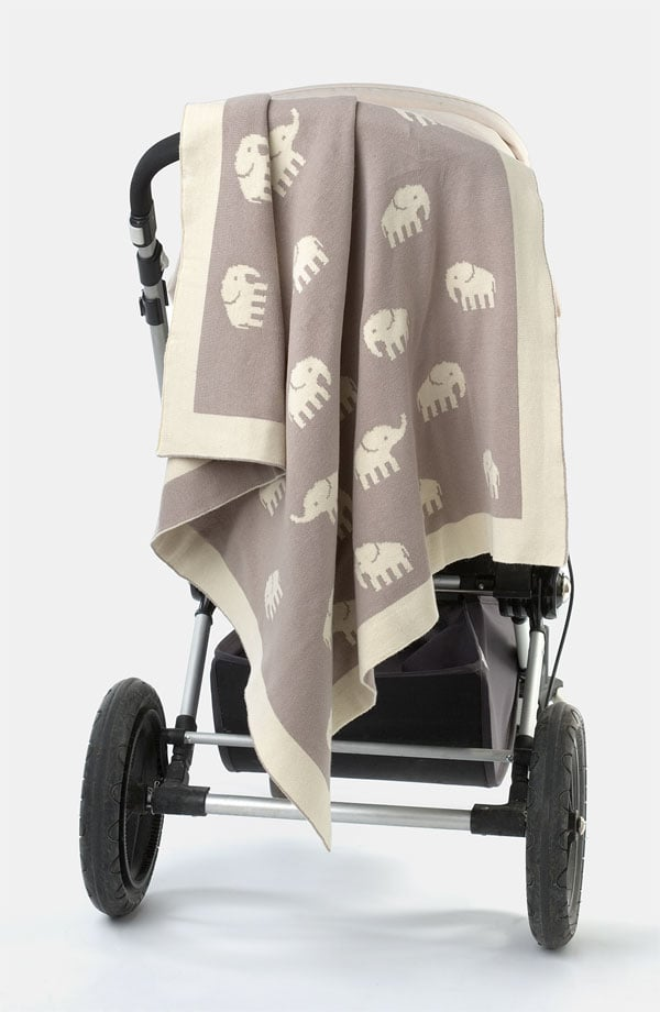 Weego Baby's cozy cotton Stampede Blanket ($80) in soft cream and taupe makes a great unisex baby gift.