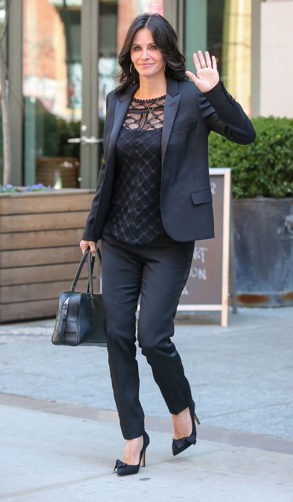 On Thursday, Courteney Cox ran errands in NYC.
