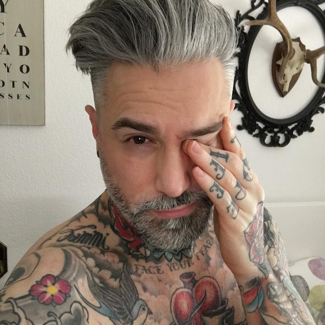 Sexy grey haired women