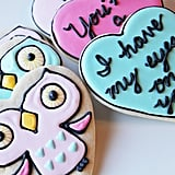 Valentine Owl & Love Message Cookies (Two For $10)