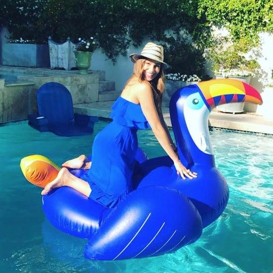 Sofia Vergara Bathing Suit Coverup July 2017
